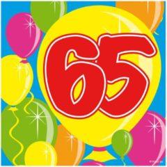 65 jaar servetten ballonnen - 25x25 cm - 20 stuks