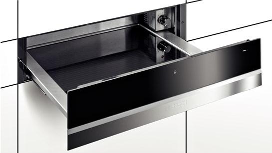 Afbeelding van Roestvrijstalen Bosch BIC630NS1 inbouw warmhoudlade restant model met 3 functies