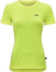 Gele Dhb hardloopshirt voor dames (korte mouwen) - Hardloopshirts (korte mouwen)
