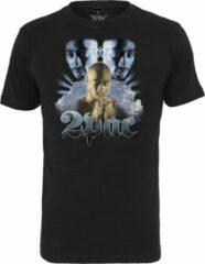 Zwarte Mister Tee Tupac heaven Tee black T-shirt maat L