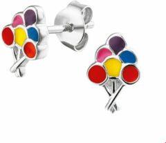 Paarse The Kids Jewelry Collection Oorknoppen Ballonnen - Zilver Gerhodineerd