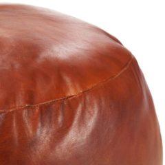 Bruine VidaXL Poef 60x30 cm echt geitenleer tan