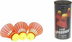 Rode Speedminton FUN Speeders - 3 stuks - crossminton - speedbadminton