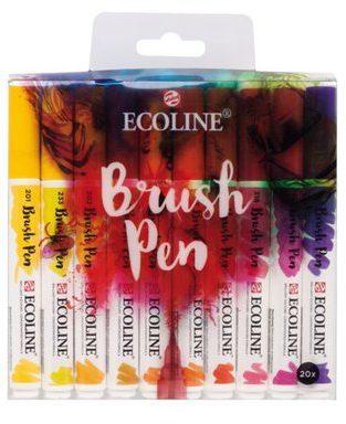 Afbeelding van Koninklijke Talens B.V Ecoline Brush Pen set 20 kleuren brushpen penseelpen penseelstift