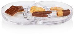 LEONARDO Glasschale, dreigeteilt, Retro-Look, Glas