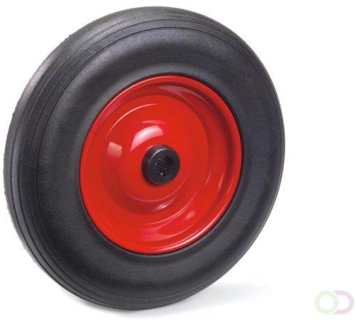Afbeelding van Fetra Massief rubber band 400 x 80 mm, Stalen velg - rood