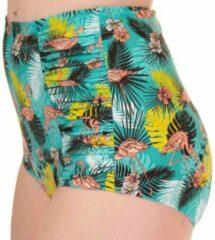 Banned Bikinibroekje -L- Wanderlust Flamingo Multicolours/Groen