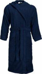 Marineblauwe Classic Collection I2T Badjas badstof met Capuchon - Navy blauw - L/XL - 420 gr/m²