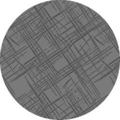 Grijze MatStyles Rond Vloerkleed Tapijt Mat - Wasbaar - Antislip - 75 x 75 cm