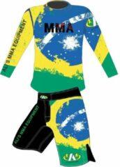 Blauwe Ali's fightgear kickboks broekje - mma short - mmas-4 brazil - XL