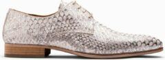 Zilveren Paulo Bellini Dress Shoe Carbonia Leather White Silver.