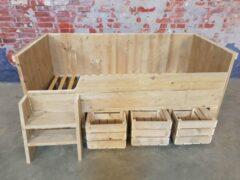 Bruine Www.meubelproductie Kajuitbed steigerhout met fruitkisten