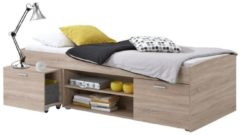 FD Furniture Kajuitbed Carlo 90x200cm - Eiken