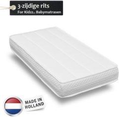 Witte For Kidzz.. Babymatrassen For Kidzz..Babymatras 70 x 130 x14cm - koudschuim - driezijdige rits