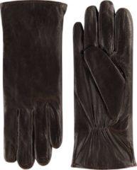Laimböck Leren handschoenen dames model Stafford Color: Espresso, Size: 7.5