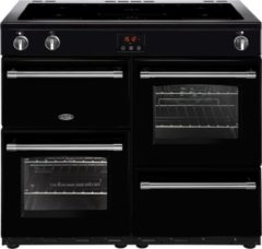 Belling Farmhouse 100Ei Range cooker Zone van inductiekookplaat Zwart