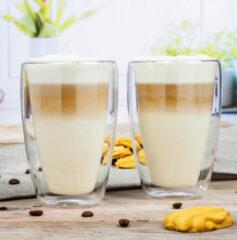 Huismerk Premium Latte Macchiato Glasset - 2 Stuks