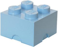 Blauwe Lego Storage Brick 4 - 25 cm x 25 cm x 18 cm - Licht Blauw