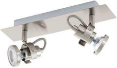 Grijze EGLO Tukon 3 - Spot - 2 Lichts - LED - Nikkel-Mat