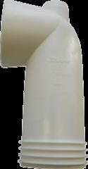 Wisa closetafvoermanchet hoek 90 ° 301K, kunststof wit, 100/110mm, le 180mm