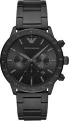 Emporio Armani AR11242 Horloge Mario Chrono staal zwart 43 mm