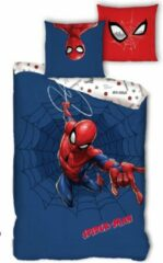 Blauwe Spider-Man SpiderMan Dekbedovertrek Web - Eenpersoons - 140 x 200 cm - Polyester