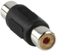 Valueline AC-065 kabeladapter/verloopstukje RCA Zwart