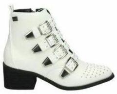Enkellaarzen Coolway Enkellaarsjes juno jonge mode-wit