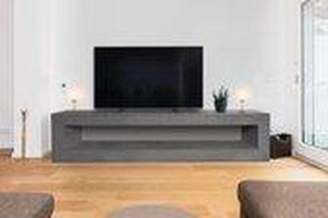 Afbeelding van Betonlook TV-Meubel open vak   Stone   160x40x40 cm (LxBxH)   Betonlook Fabriek   Beton ciré