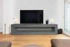 Betonlook TV-Meubel open vak | Stone | 160x40x40 cm (LxBxH) | Betonlook Fabriek | Beton ciré