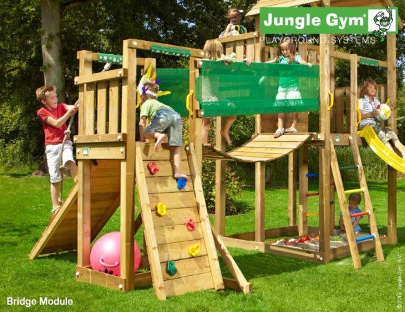 Afbeelding van Bruine Jungle Gym Bridge Module met Houtpakket