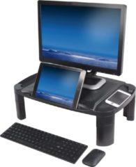 Zwarte DESQ® Monitorverhoger | Unieke houder voor tablet of telefoon | 3 hoogtes | Groot formaat
