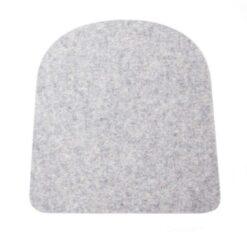 Licht-grijze Hey-Sign seatpad voor Tolix stoel - 5 mm - gaatjes - Antislip - Lichtgrijs 07