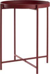 Lisomme ronde bijzettafel Susan - Ø38 x H50 cm - Mat rood
