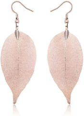 Roze LGT JWLS Dames oorhangers Blad oorbellen Leaf Rose