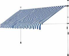 Detex klem luifel blauw/wit 350cm