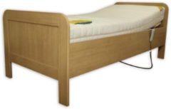 Zaansebedden Elektrische Seniorenbed inclusief orthopedische bamboe traagschuim matras 90x200 Beuken