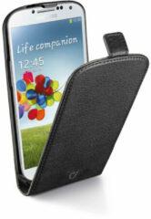 Zwarte Cellular Line Samsung S4 Flipcase