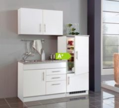 HELD Möbel Single-Küche Dallas 160 cm - Melamin weiß