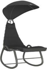 VidaXL Tuinschommelstoel 160x80x195 cm stof zwart