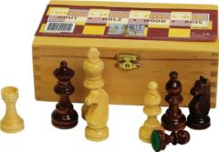 Witte Abbey® Game Abbey Game Schaakstukken - 87 mm - Zwart/Wit
