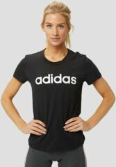 Zwarte T-shirt Korte Mouw adidas Essentials Linear Slim Tee Women