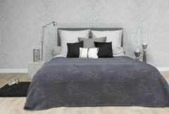 Donkerbruine Heckettlane HnL Living Gipsy - Bedsprei - Perkal - 270 x 260 cm - Brown