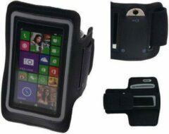 BestCases Microsoft Lumia 532 Zwart Sportarmband Neopreen