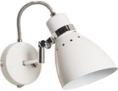 Witte Lightning - moderne wandlamp 1-l. Refl. - wit