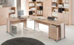 Schreibtisch-Winkelkombination Eiche Sonoma Nachbildung Bega Office Line