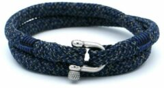 Donkerblauwe MR. JACOB William driekleurige touw armband