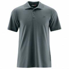 Grijze Maier Sports - Ulrich - Poloshirt maat S grijs/zwart