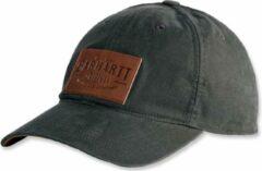 Carhartt RIGBY STRETCH FIT LEATHERETTE PATCH CAP PEAT M/L