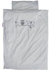 Taftan Dekbedovertrek Uil Grijs 100 x 135 cm